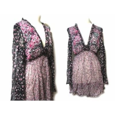 RINASCIMENTO ITALY「M」フェミニンチュニックワンピース (feminine tunic one-piece) OPAQUE リナッシメント ドレス 052986【中古】