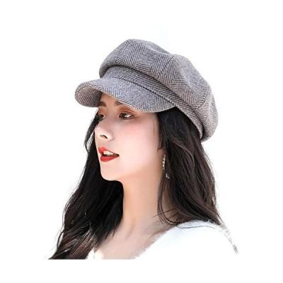 Aoke-アオケ-キャスケット-フェルトハット-スタイリッシュ帽