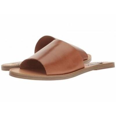 Steve Madden スティーブマデン レディース 女性用 シューズ 靴 サンダル Grace Slide Sandal Cognac Leather【送料無料】