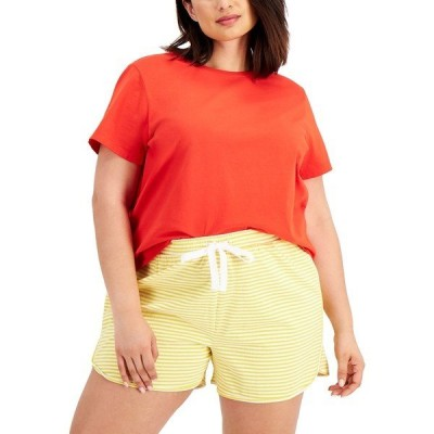 スタイルアンドコー カットソー トップス レディース Plus Size Solid Shrunken Top, Created for Macy's Loving Red