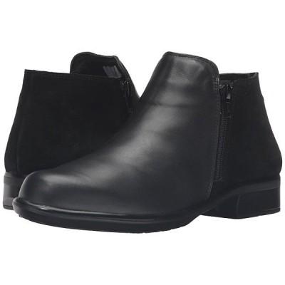 ナオトフットウェア ブーツ&レインブーツ レディース Helm Black Raven Leather/Black Suede