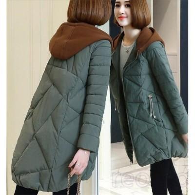 中綿コート レディース 厚手 フート付き 切り替え 中綿ジャケット アウター 秋 冬 あったか 防寒 防風 おしゃれ 冬服