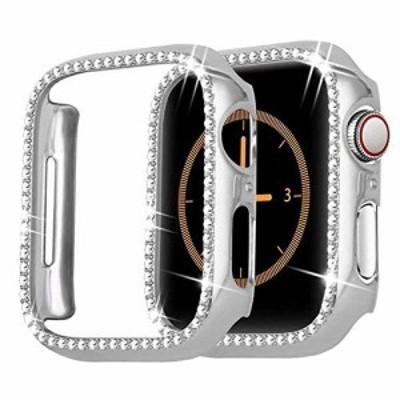 【送料無料】コンパチブルApple Watch 44mmケース アップルウォッチシリーズ 6 5 4 SEPCケース ダイヤモンド嵌め スクラッチ防止 快適
