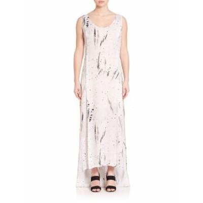 パブリック スクール レディース ワンピース Sachey Feather-Print Silk Dress