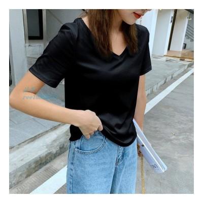 Tシャツ レディース 半袖 夏 カットソー 大きいサイズ Tシャツ 綿100%