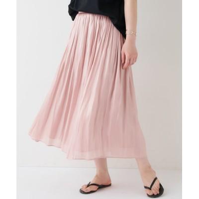 《定番、手洗い可》サテンギャザースカート
