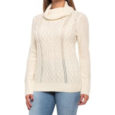 ノースリバー North River レディース ニット・セーター ポインテール トップス pointelle cowl neck sweater Ecru
