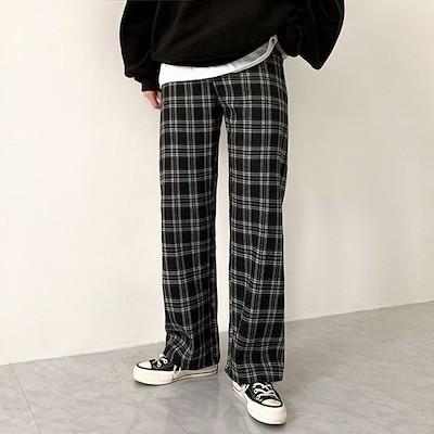 [BeiDelli]韓国NO.1女性のファッション! 2color! / 毎日履いてるズボンの登場! [裏起毛裏地] チェックバンディングパンツ / 韓国ファッション