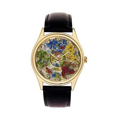 海外取寄品--Marc Chagall シーリング・オブ・ザ・パリ オペラハウス クラシック ジュダイック アート 40mm 純真鍮 コレクターズ腕時