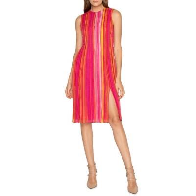 アクリス レディース ワンピース トップス Striped Silk Georgette Dress