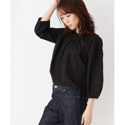 OPAQUE.CLIP / 【洗える】エンブロイダリースリーブシャツ WOMEN トップス > シャツ/ブラウス
