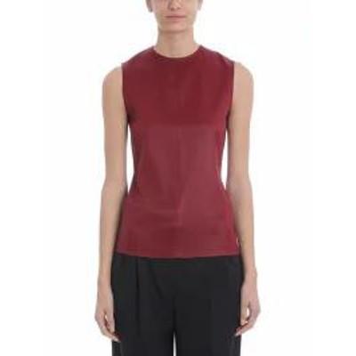 Givenchy レディースその他 Givenchy Sleeveless Satin Burgundy Top Red