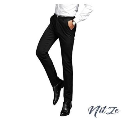 YFFUSHI スラックス メンズ ロングパンツ ウォッシャブル ビジネス ズボン 通勤 全4柄 黒 紺色 フィット リネン ス