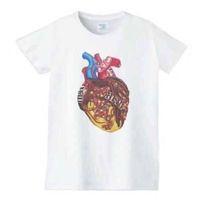 デザイン Tシャツ 白 レディース 女性用 jza6
