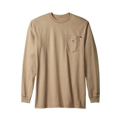 カーハート メンズ シャツ トップス Big & Tall Flame-Resistant Force Cotton Long Sleeve T-Shirt