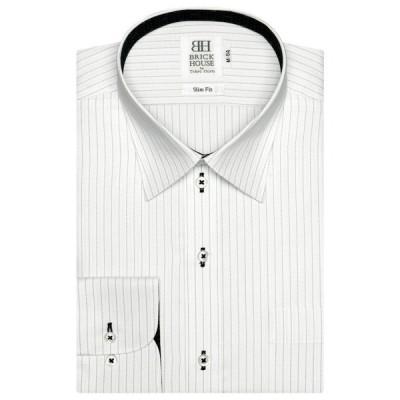 シャツ ブラウス 形態安定ノーアイロン レギュラーカラー 長袖ビジネスワイシャツ