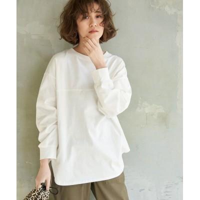 ロペピクニック/【ORGABITS】フロント切替ロングTシャツ/ホワイト/38