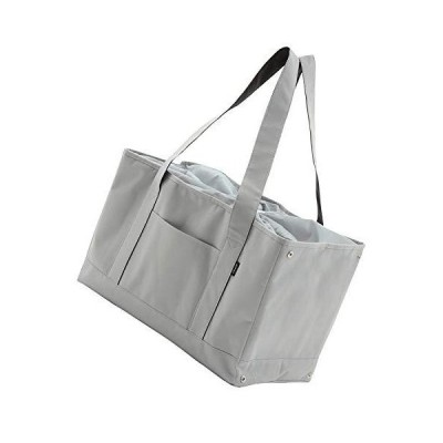 Libexy レジカゴ 保冷 エコバッグ お買い物バッグ れじかご 買い物かご エコバック 大容量 ショッピングバッグ (ライトグレー)