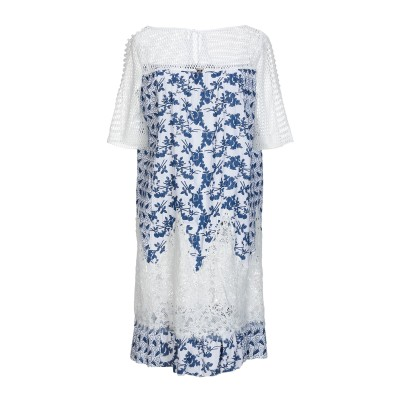 22 MAGGIO by MARIA GRAZIA SEVERI ミニワンピース&ドレス ホワイト 42 レーヨン 70% / ポリエステル 30%