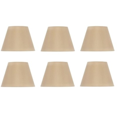 Upgradelights Set of Six Shades That are 6 Inch European Drum Style Ch