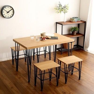 ヴィンテージテーブル 単品 約110cm幅 シャビーオーク 組立品 〔チェア別売〕〔代引不可〕