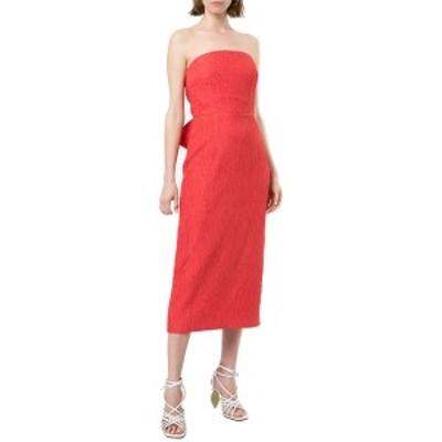 レベッカ・ヴァランス レディース ワンピース トップス Rebecca Vallance Francesca Tie Midi Dress coral