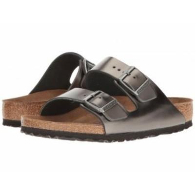 Birkenstock ビルケンシュトック レディース 女性用 シューズ 靴 サンダル Arizona Soft Footbed Metallic Anthracite【送料無料】