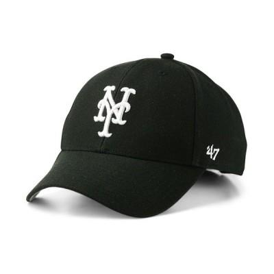 47ブランド 帽子 アクセサリー メンズ New York Mets Black White MVP Cap Black