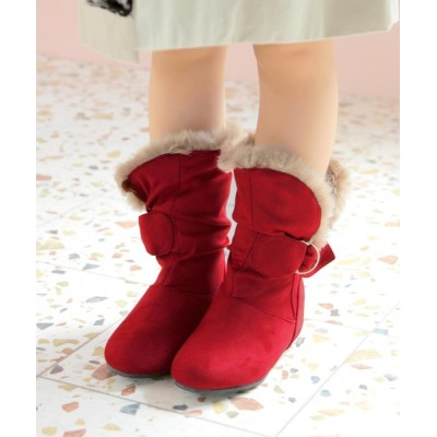 SOROTTO / インヒールファーブーツ KIDS シューズ > ブーツ