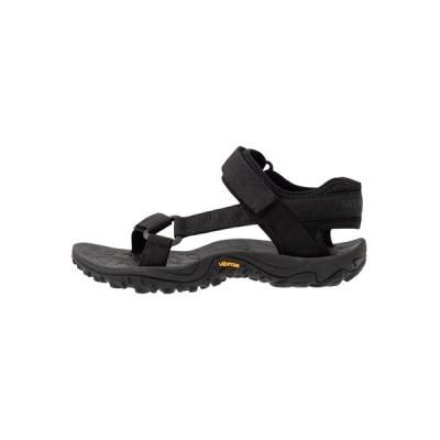 メレル サンダル レディース シューズ KAHUNA WEB - Walking sandals - black
