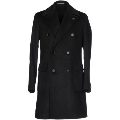 パオローニ PAOLONI コート ブラック 52 バージンウール 80% / ナイロン 20% コート