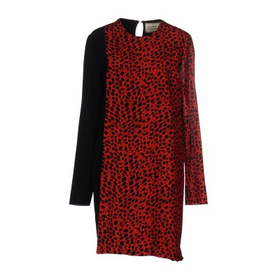 ファウスト プリージ FAUSTO PUGLISI ミニワンピース&ドレス レッド 38 シルク 100% ミニワンピース&ドレス