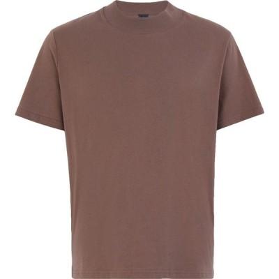 オット バイ ユークス 8 by YOOX メンズ Tシャツ トップス organic cotton mock-neck s/sleeve t-shirt Khaki