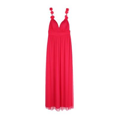 SOANI ロングワンピース&ドレス フューシャ 40 ポリエステル 100% ロングワンピース&ドレス