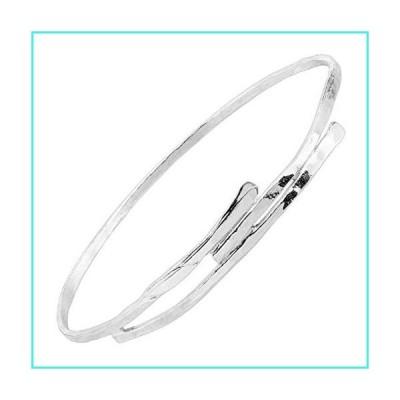 【新品】Silpada 'Alamere' Hammered Wrap Bangle Bracelet in Sterling Silver(並行輸入品)