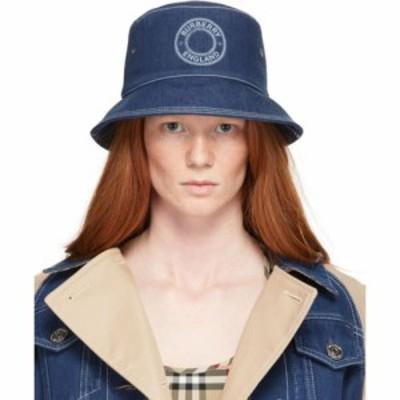 バーバリー Burberry レディース ハット バケットハット 帽子 Blue Denim Circle Logo Bucket Hat Dark blue