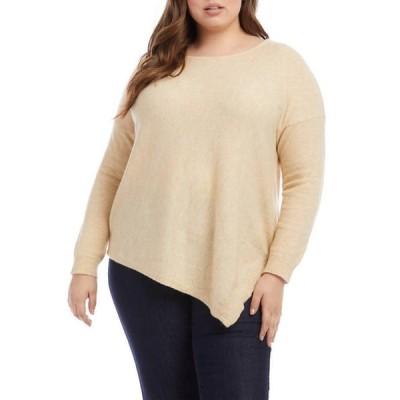 カレンケーン レディース ニット・セーター アウター Plus Size Asymmetric Hem Sweater