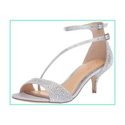 Jewel Badgley Mischka Women's Tangerine Sandal, silver, 5.5 Medium US並行輸入品