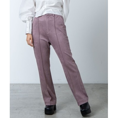 WEGO / dukkah/【低身長に優しいXSサイズ】センタープレスセミフレアパンツ WOMEN パンツ > スラックス