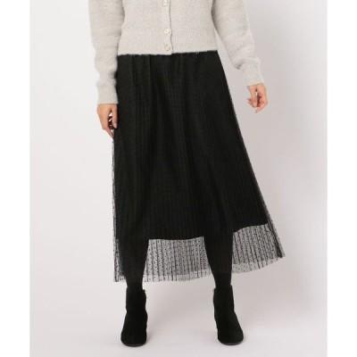 スカート チュールプリーツスカート