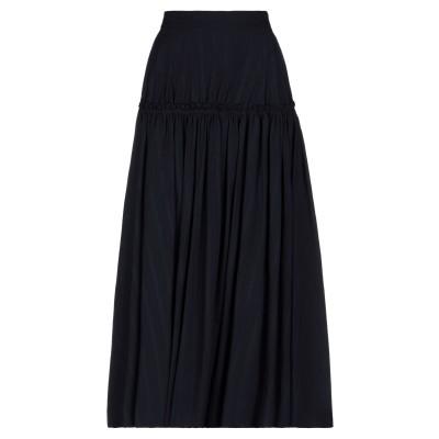Y'S YOHJI YAMAMOTO ロングスカート ダークブルー 2 ウール 100% ロングスカート
