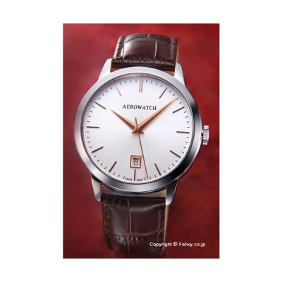 AEROWATCH アエロウォッチ 腕時計 メンズ A42972AA02 LES GRANDES CLASSIQUES (グランド クラシック) シルバー