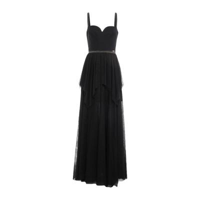 リュー ジョー LIU •JO ロングワンピース&ドレス ブラック 44 ポリエステル 100% / ポリウレタン ロングワンピース&ドレス