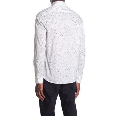 マイケルコース メンズ シャツ トップス Dot Print Reguar Fit Shirt WHITE