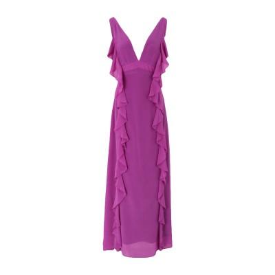KORALLINE ロングワンピース&ドレス パープル 42 シルク 100% ロングワンピース&ドレス