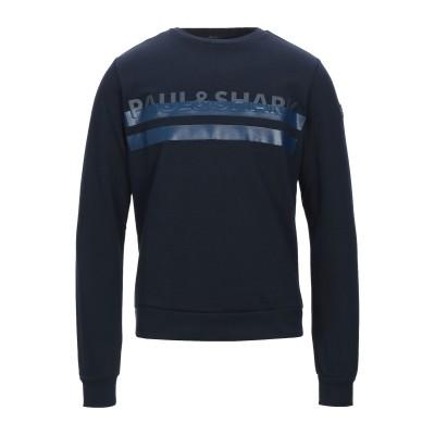 ポール・アンド・シャーク PAUL & SHARK スウェットシャツ ダークブルー S コットン 100% スウェットシャツ