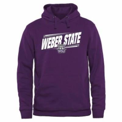 Fanatics Branded ファナティクス ブランド スポーツ用品  Weber State Wildcats Purple Double Bar Pullover Hoodie