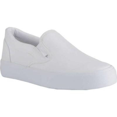 ラグズ スニーカー シューズ レディース Clipper LX Slip On Sneaker (Women's) White Synthetic Leather