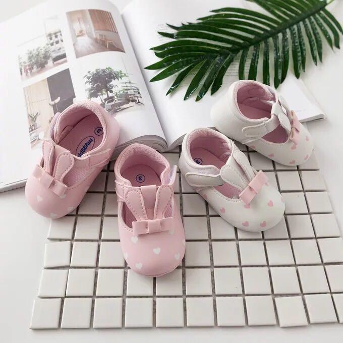 小公主鞋 可愛兔耳朵PU甜美公主鞋防滑軟底寶寶學步鞋【IU貝嬰屋】