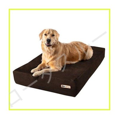 Big Barker 7 Pillow Top Orthopedic Dog Bed - Large Size - 48 X 30 X 7 - Chocolate - For Large and Extra Large Breed Dogs (Sleek Edition) by